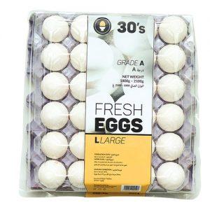 White Egg Large 30's pack