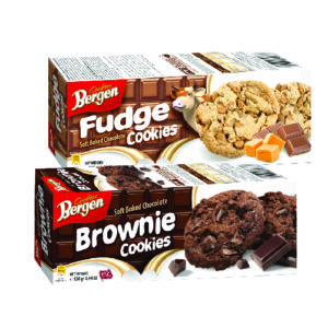Bergen Brownie cookies box / fudge