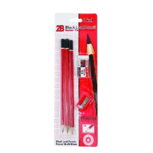 Pencil 3 pcs + Rubber + Sharpener