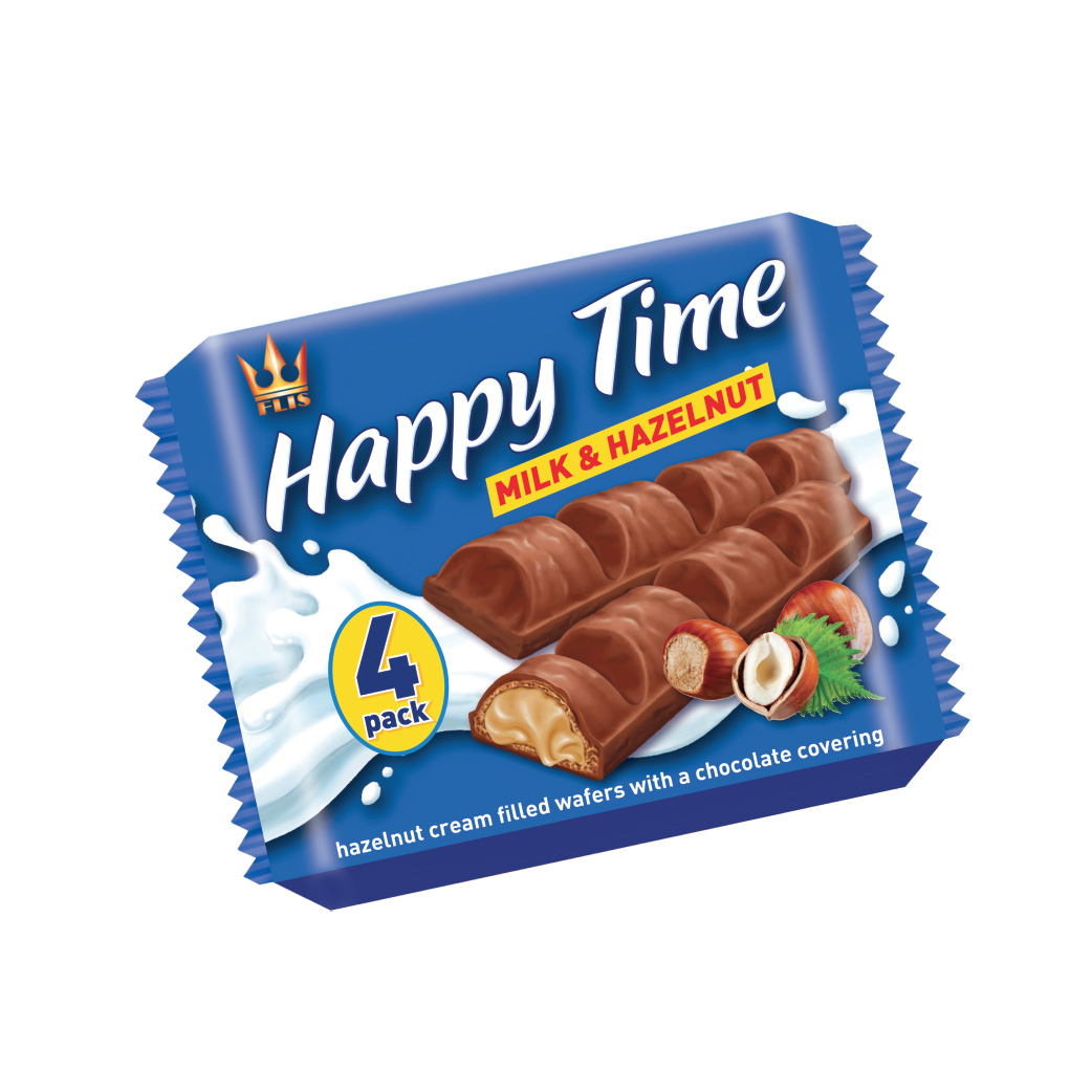 Flis 4 pack Milk Hazelnut Wafer Bar