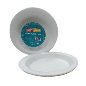 Foam Plate Plain 7″