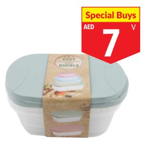 3 pc Food Container 850ml, 1.6L, 2.5L