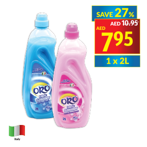 Oro Fabric Softener Spring Fresh/ Luxurious Rose